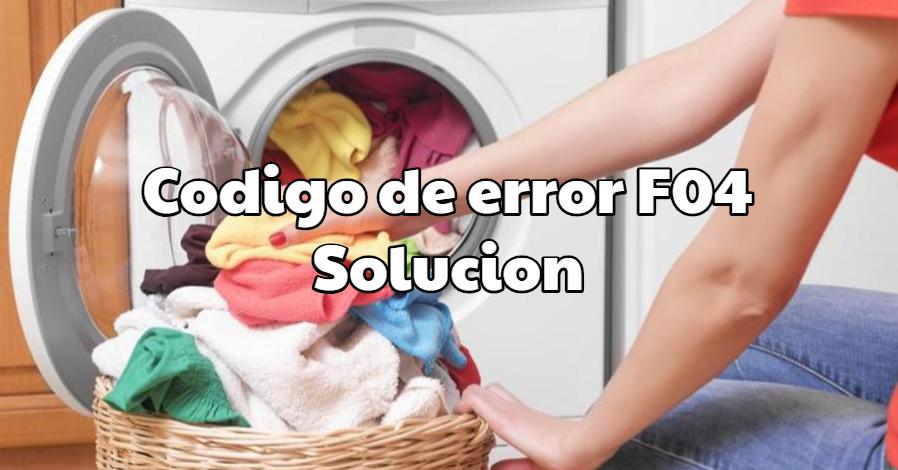 Codigo de error F4 lavadora Fagor