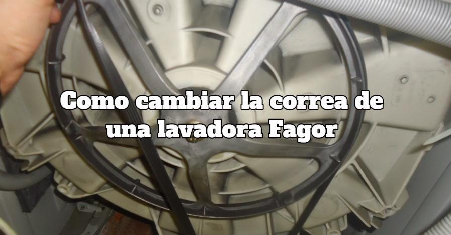 Como cambiar la correa de una lavadora Fagor